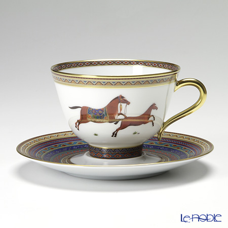 エルメス(HERMES) シュヴァルドリアンティーカップ&ソーサー 230ml No.6 ソーサー青