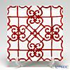 Hermes 'Balcon du Guadalquivir' Red 011002P Square Plate 26.7cm