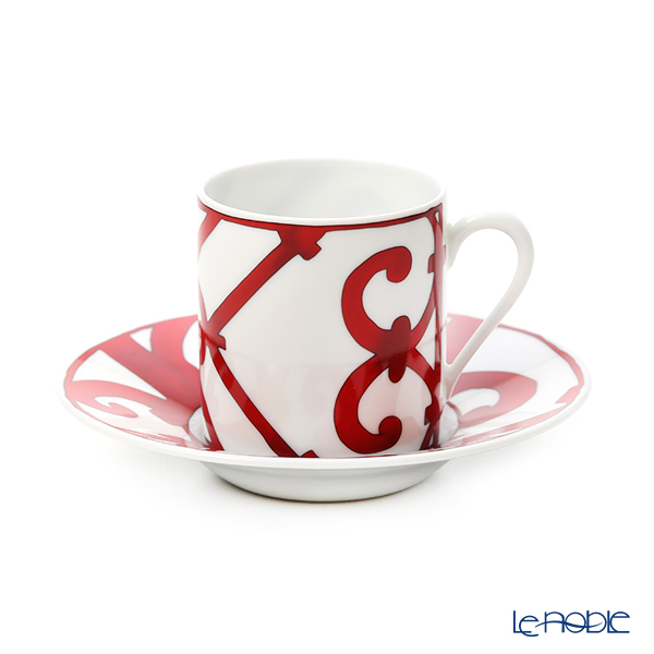 Hermes Balcon du Guadalquivir Coffee cup and saucer, 3.33 fl.oz.