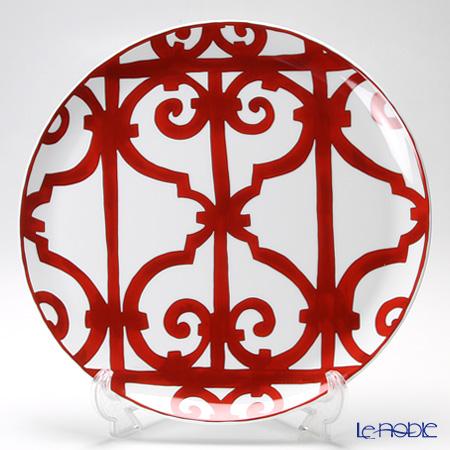 Hermes 'Balcon du Guadalquivir' Red Tart Plate 32cm