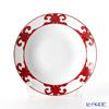 Hermes 'Balcon du Guadalquivir' Red 011026P Round Deep Platter 29.5cm