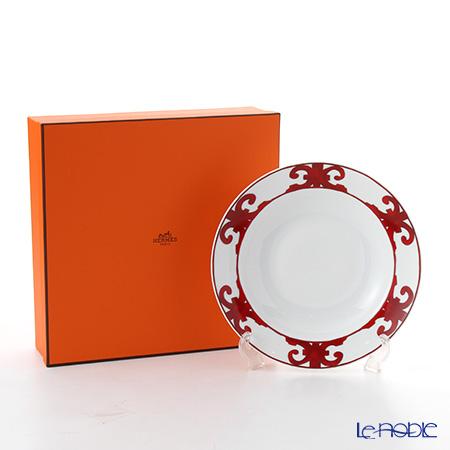 Hermes 'Balcon du Guadalquivir' Red Round Deep Platter 29.5cm