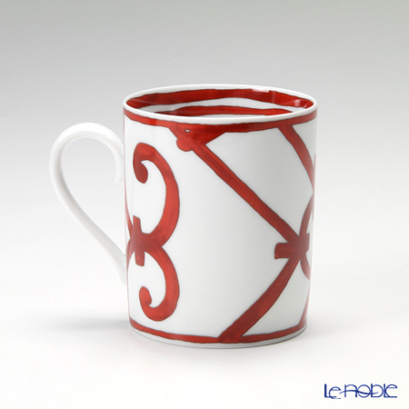 Hermes 'Balcon du Guadalquivir' Red [No.2] Mug 300ml