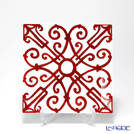 Hermes Balcon du Guadalquivir No.4 Square Plate 19.5x19.5cm