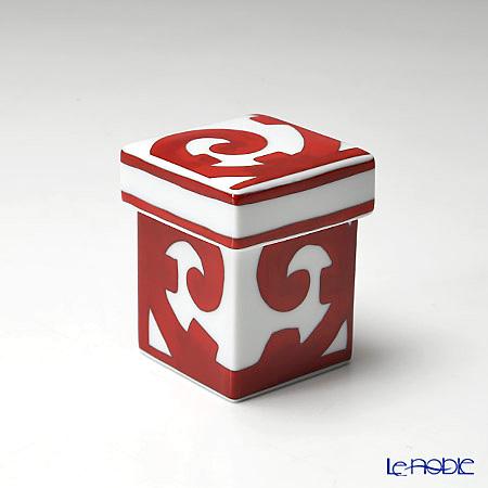 Hermes 'Balcon du Guadalquivir' Red Square Box 5.5xH7cm