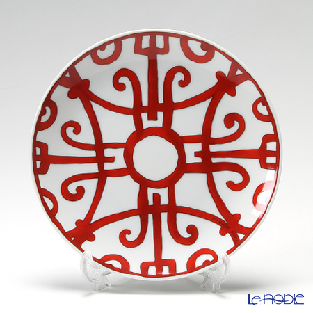 Hermes 'Balcon du Guadalquivir' Red [No.4] Bread & Butter Plate 17cm