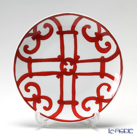 Hermes 'Balcon du Guadalquivir' Red [No.5] Bread & Butter Plate 17cm