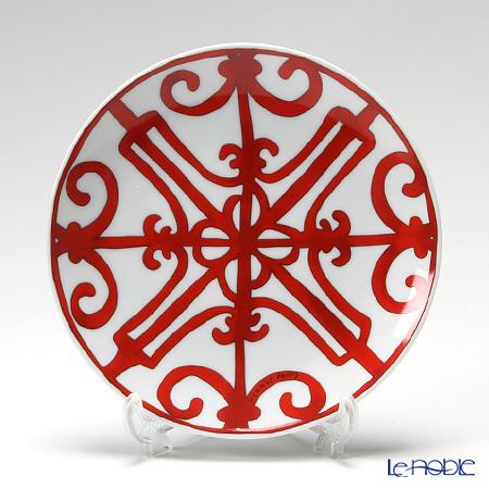 Hermes 'Balcon du Guadalquivir' Red [No.6] Bread & Butter Plate 17cm