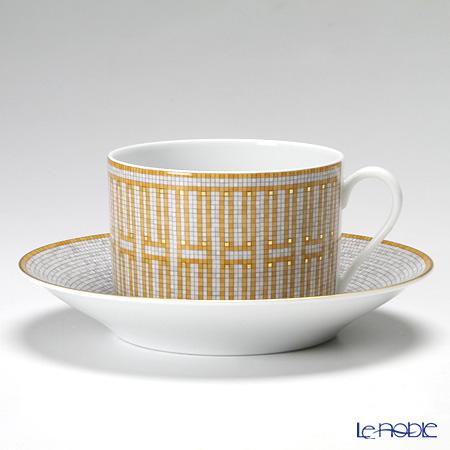 エルメス(HERMES) モザイク ヴァンキャトルモーニングカップ&ソーサー 340ml