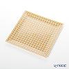 Hermes 'Mosaique au 24' Gold [No.4] Square Plate 19.3x19.3cm