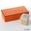 Hermes 'Mosaique au 24' Gold Square Box 5.7xH7cm