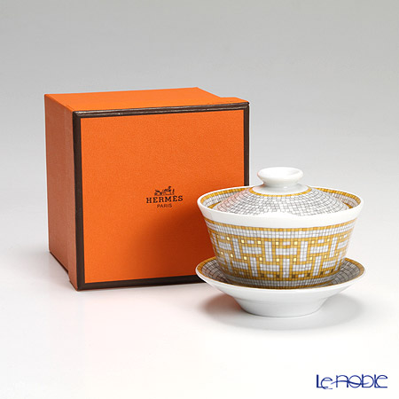 エルメス(HERMES) モザイク ヴァンキャトル コレクション アジアティックティーカップ(ふた、ソーサー付) 130ml