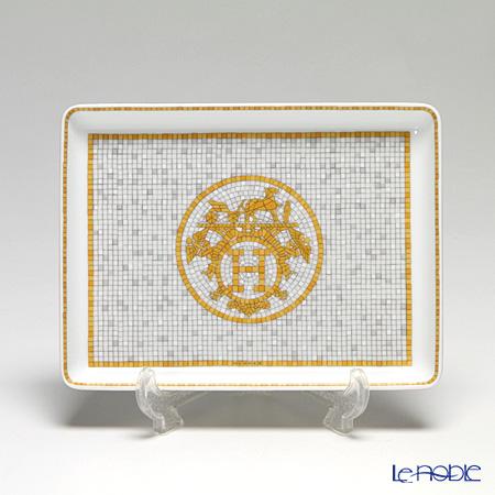 エルメス(HERMES) モザイク ヴァンキャトル コレクション アジアティック 長方形皿 16×12cm