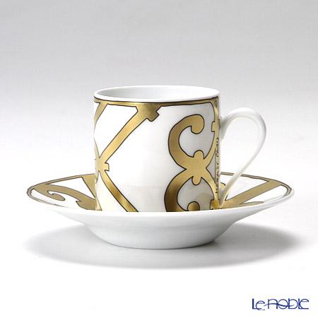 エルメス(HERMES) ガダルキヴィール ゴールドコーヒーカップ&ソーサー 90ml