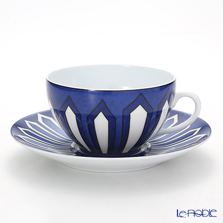 エルメス(HERMES) ブルー ダイユール モーニングカップ&ソーサー 370ml
