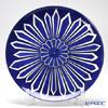 Hermes 'Bleus d'Ailleurs' Blue 030022P Tart Plate 32cm