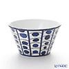 Hermes 'Bleus d'Ailleurs' Blue 030230P Soufflé Dish / Bowl 23.5cm