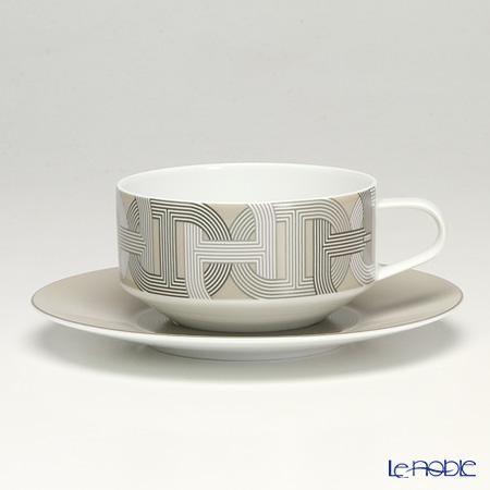 エルメス(HERMES) ラリー 24 ティーカップ&ソーサー 150ml グレー