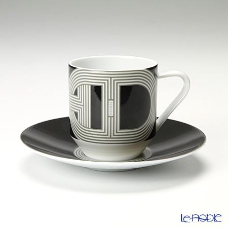 エルメス(HERMES) ラリー 24 コーヒーカップ&ソーサー 100ml ブラック