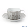 Hermes 'Mosaique au 24' Platinum 035015P Morning Cup & Saucer 340ml