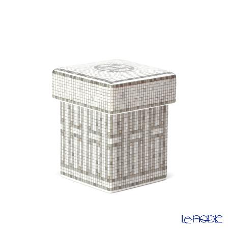 エルメス(HERMES) モザイク ヴァンキャトル プラチナ ミニボックス/シュガーボックス 5×5×7cm