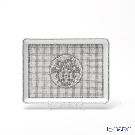 エルメス(HERMES) モザイク ヴァンキャトル プラチナ長方形皿 16×12cm コレクション アジアティック