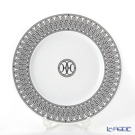 Hermes H Deco Dessert plate n°1, grey, 8.9