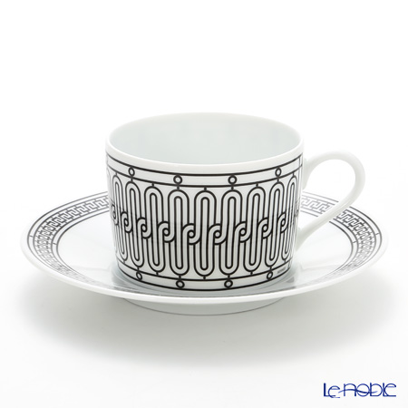 Hermes H Deco Tea cup and saucer, grey, 16.0 cl