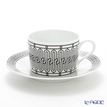 Hermes 'H Deco' Black Tea Cup & Saucer 160ml