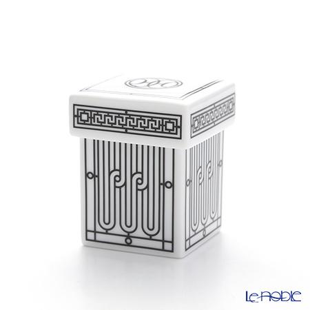 Hermes 'H Deco' Black Sugar Box / Small Box 5x5xH7cm