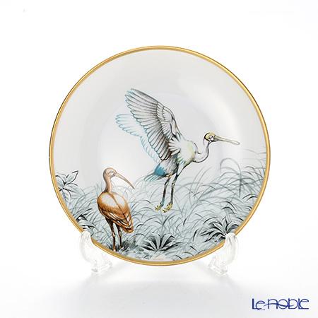 Hermes Carnets d'Equateur Bread plate, Birds motif, 14 cm