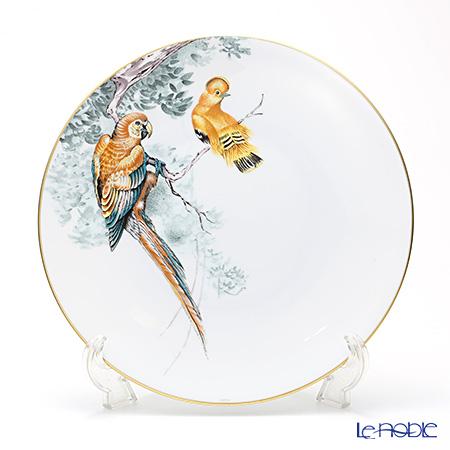 Hermes Carnets d'Equateur Dinner plate, Birds motif, 27 cm