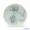 Hermes Carnets d'Equateur  Dessert plate, Lions motif, 21 cm