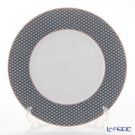 Hermes Tie-Set Mandarin Dinner Plate 29.5cm