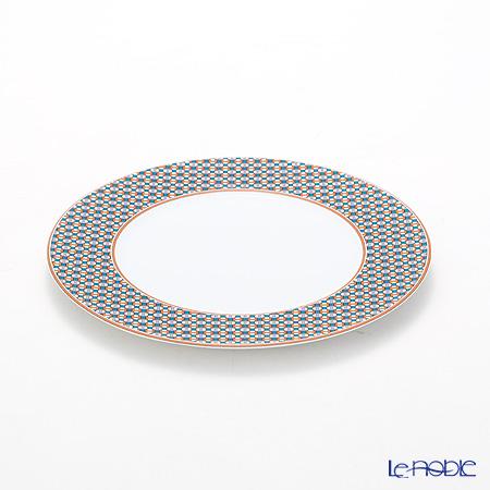 Hermes Tie-Set Mandarin Dessert Plate 21.5cm