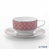 Hermes Tie-Set Tea Cup & Saucer 150ml Fuchsia