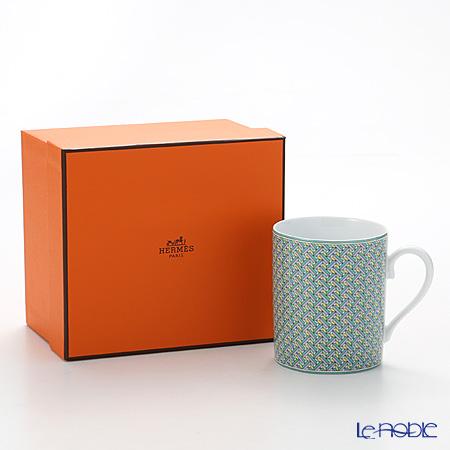 Hermes 'Tie-Set' Jade Green Mug 300ml