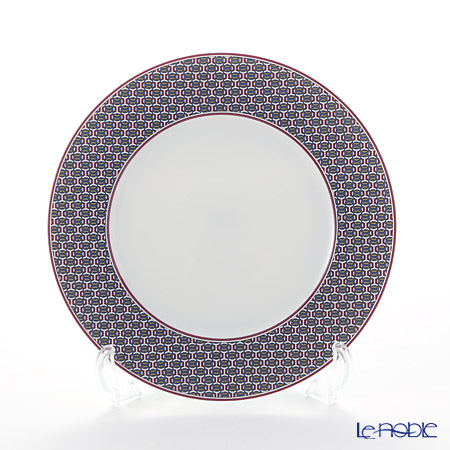 Hermes Tie-Set Garnet Dessert Plate 21.5cm