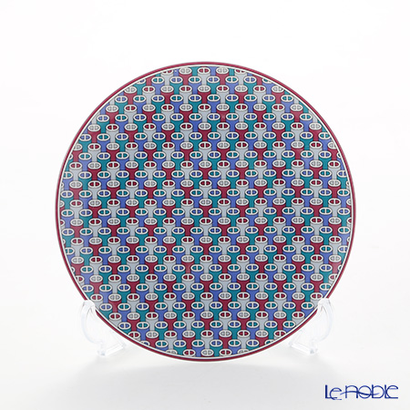 Hermes Tie-Set Garnet Bread and Butter Plate, Φ14 cm