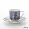Hermes Tie-Set Coffee Cup & Saucer 100ml Cobalt