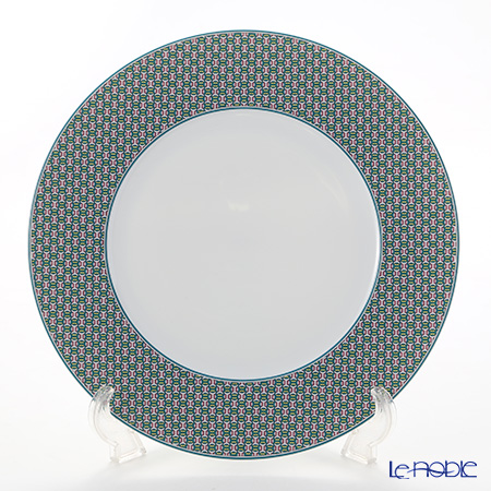 Hermes 'Tie-Set' Mint Green Dinner Plate 29.5cm