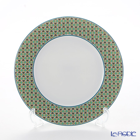 Hermes Tie-Set Mint Dessert Plate, Φ21.6 cm
