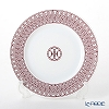 Hermes 'H Deco' Rouge Red [No.1] Dessert Plate 23cm