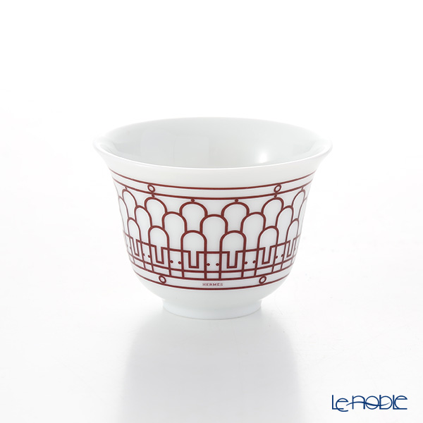Hermes 'H Deco' Rouge Red [No.1] Mini Cup 62ml