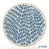 Hermes 'A Walk in the Garden' Blue 043001P Dinner Plate 27cm