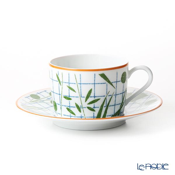 エルメス(HERMES) ウォーク・イン・ザ・ガーデン ティーカップ&ソーサー グリーン