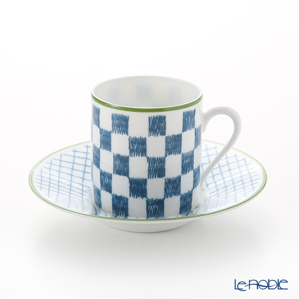 エルメス(HERMES) ウォーク・イン・ザ・ガーデン コーヒーカップ&ソーサー ブルー
