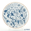 Hermes 'A Walk in the Garden' Blue Tart Platter 32cm