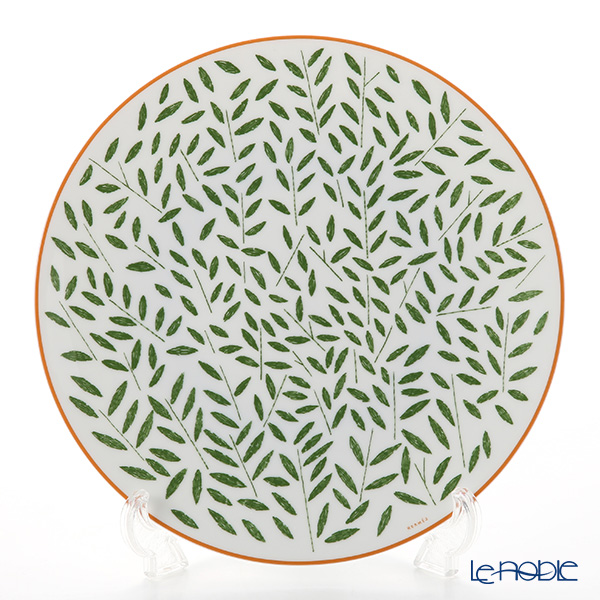 Hermes 'A Walk in the Garden' Green 043101P Dinner Plate 27cm