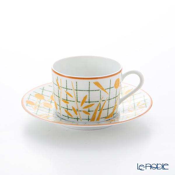 エルメス(HERMES) ウォーク・イン・ザ・ガーデン ティーカップ&ソーサー イエロー